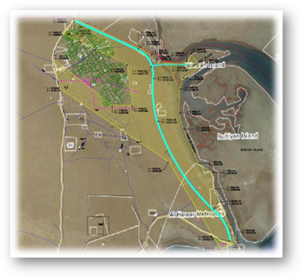 EIA study for Kuwait Subiya Abdalli road (RA 190). 2010-2011