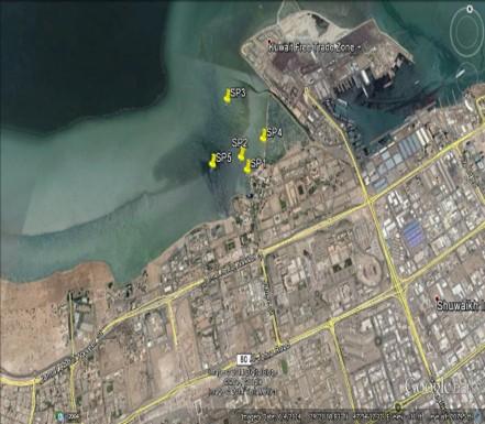 Sea water intake at project KISR  Sea intake in Shuwaikh. 2014-2015